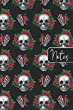 Notes: beautiful goth style notebook / journal | floral skull | skulls | gothic | emo | grunge | punk |: great small gift for goth in your life :)