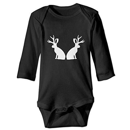 SDGSS Ropa para bebés Bodysuits Jackalopes Long Sleeve Baby One-Piece Suit Rompers Bodysuit for Infant