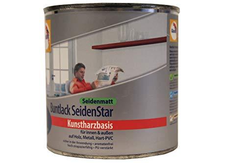 Glasurit Buntlack SeidenStar Seidenmatt Kunstharzbasis 375ml (1021 Gelb)