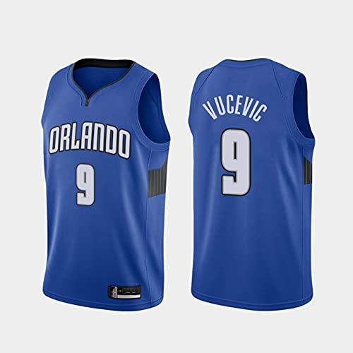 TGSCX Jerseys de Baloncesto de los Hombres NBA Orlando Magic 9# Nikola VIVEVIC CLÁSICO CLÁSICO Jersey Retro Fresco Tela All-Star Tela Unisex Uniformes,L