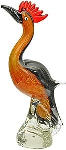 Figura de Cristal común pájaro Vidrio Estilo Antiguo Murano 32cm