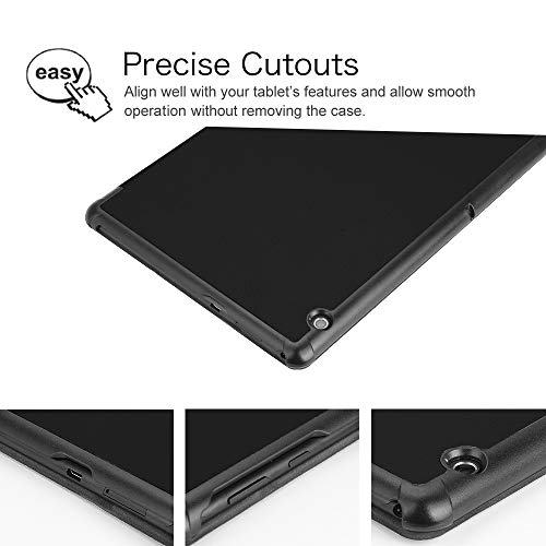 Fintie Hülle Case für Huawei MediaPad T5 10 - Ultra Dünn Superleicht Flip Schutzhülle mit Zwei Einstellbarem Standfunktion für Huawei MediaPad T5 10 10.1 Zoll 2018 Tablet PC,Schwarz