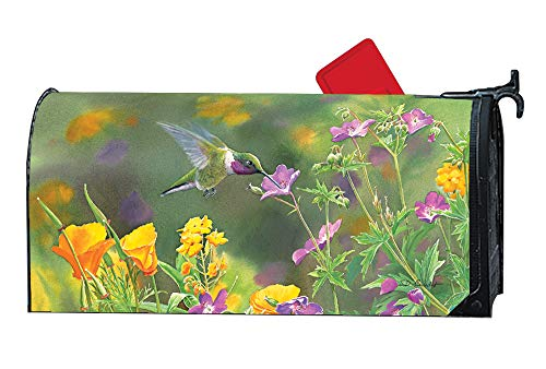 Studio M Hummingbird Hover Decorative Spring Summer MailWrap, The Original Magnetic Mailbox Cover, Made in USA, Superior Weather Durability, Standard Size fits 6.5W x 19L Inch Mailbox