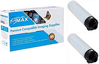 SuppliesMAX Compatible Replacement for Ricoh MP-2554/3054/3055/3554/3555 Black Toner Cartridge (2/PK-24000 Page Yield) (Type MP2554) (8421242PK)