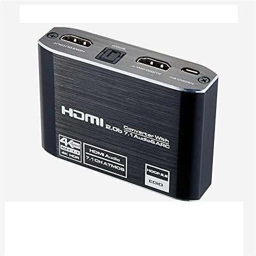 Extractor de Audio HDMI 2.0 4K 60Hz RGB8: 8: 8 HDR Divisor HDMI Convertidor de Audio 4K HDMI a óptico TOSLINK SPDIF 7.1