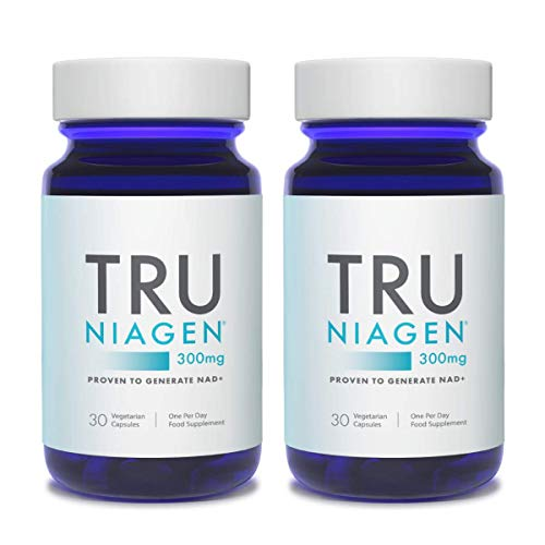 TRU NIAGEN Nicotinamide Riboside Chloride - Patented NAD Booster for Reduction of Tiredness & Fatigue, 300mg Per Vegetarian Capsules - 30 Count (2 Month)