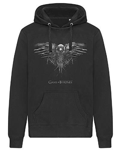 Game of Thrones Crow Sweat à capuche avec poches Unisexe - Noir - X-Large