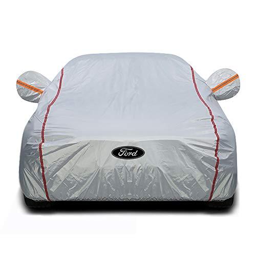 DSISI Kompatibel mit dem Ford-Auto-Abdeckung, Neue sonnensichere wärmeisolierende Auto-Mantel verdickte die...