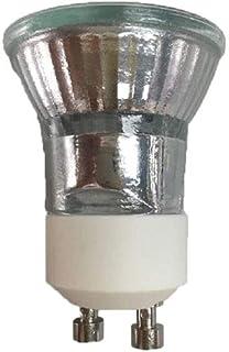 5 x GU10 Lámpara halógena 28 W + C (35 mm) 220 V Blanco cálido Mini Lámpara halógena GU10 28w Regulable GU10 Bombilla halógena