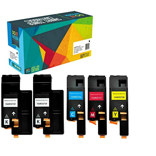 Do it Wiser 5 Cartuchos de Tóner Compatibles para Xerox Phaser 6020 6022 WorkCentre 6025 6027 | 106R02759 106R02756 106R02757 106R02758 (5 Pack)