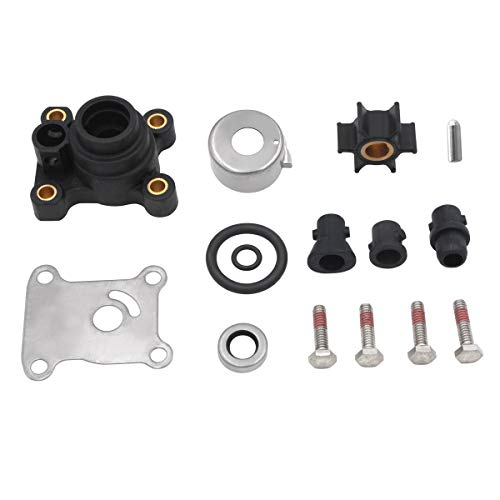 Water Pump Impeller Kit for Johnson Evinrude 8-15HP Outboard with Housing 1974-UP 18-3327 394711