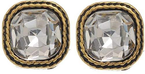 behave Frauen Ohrstecker mit Kristallen aus Unedles Metall - Gold farbig