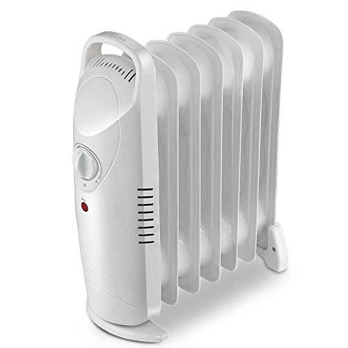 L-YIN Heizlüfter Calentador, 700W Aceite Radiador Llenado Portátil Termostato Eléctrico Y Cierre De Seguridad