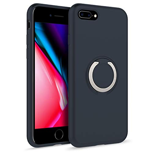ZIZO Revolve Series for iPhone 8 Plus Case with Built in 360 Ring Holder Magnetic Mount and Kickstand iPhone 7 Plus Charcoal Blue