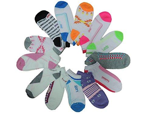 Unbekannt 10 Paar gemischte Damen Sneaker Socken Größe 35-42 (39-42)