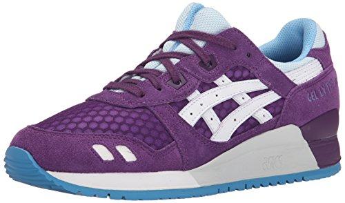 Asics Gel Lyte III - Zapatillas de moda para mujer, Morado (Púrpura/Blanco), 35.5 EU