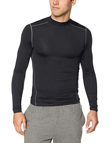 Starter Men's Compression Mockneck Top, Amazon Exclusive, Black, M