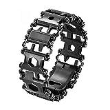 LCAZ Bracelet multifonction en acier inoxydable 29 en 1 avec tournevis pour...