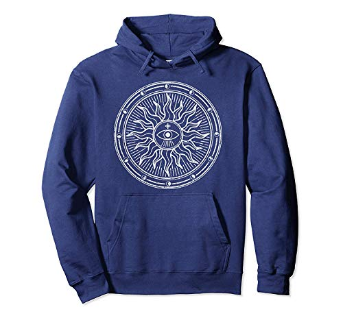 ShiXiShiQuFangRong Hoodie Cool Alles sehende Auge Mystic Sun Alchemy Tarot
