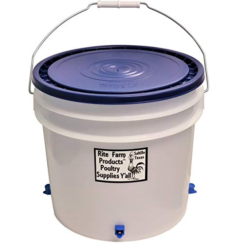 Rite Farm Products 3.5 Gallon Automatic Waterer 4 Horizontal Side Mount Nipple Drinker Chicken Poultry