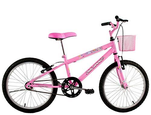 Bicicleta Infantil Aro 20 Feminina Melissa com Cesta Rosa