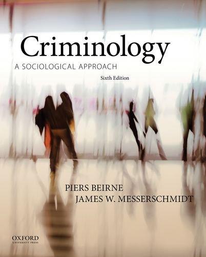 Criminology: A Sociological Approach