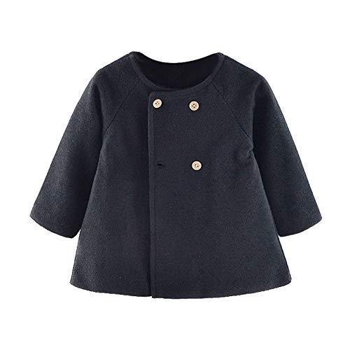 Modder Koninkrijk Peuter Meisjes Jas Baby Outwear Jas Mantel Knop 0-4 Jaar