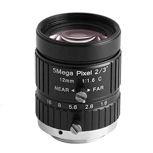 Lente óptica CCTV HD 12mm 5MP 2/3 Montura C Lente de Apertura Manual CW-FM1216-5MP F 1.6 Lente de Zoom y Iris Manual para cámara CCTV de Seguridad