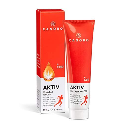 CANOBO AKTIV CBD Muskelgel | Sport Aktivgel | 200mg CBD | Zum Einsatz auf Muskelpartien wie: Rücken, Knie, Schulter & Armen | Regeneration nach dem Sport | Feuchtigkeitsspendend & kühlend