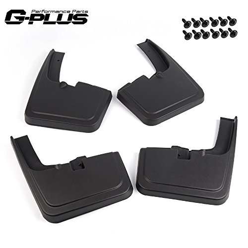 G-PLUS Heavy Duty Molded Mud Flaps for Ford F150 F-150 (for Trucks with Fender Flares) 2015 2016 2017 2018 Front Rear Splash Mud Guard Mudguard Mudflaps 4Pc Set Black