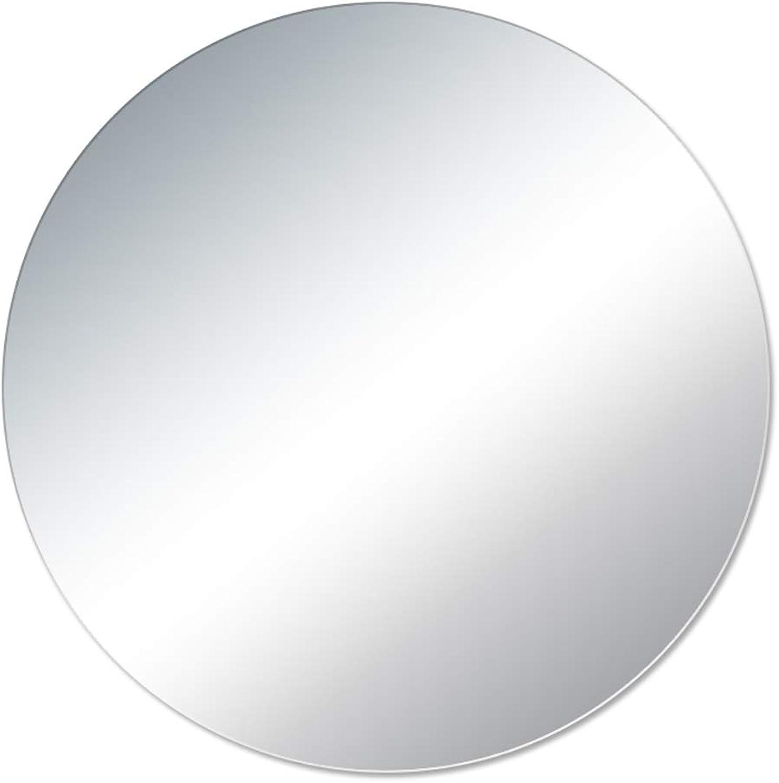 JSSFQK Explosion-Proof Round Bathroom Mirror Wall Mount Mirror Frameless Paste Mirror Makeup Mirror 70×70cm Bathroom Mirror (Size   50×50cm)