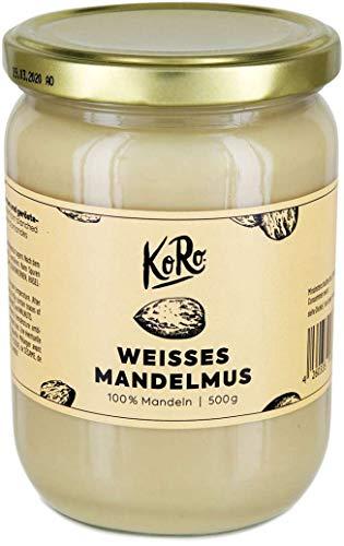 KoRo - Mandelmus Weiß 500 g - Veganes Nussmus aus 100 % Mandeln ohne Zusätze
