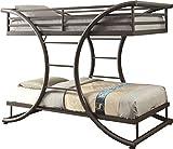 Coaster Home Furnishings Bunk Bed, 82.25'W x 46'D x 65.25'H, Dark Gunmetal