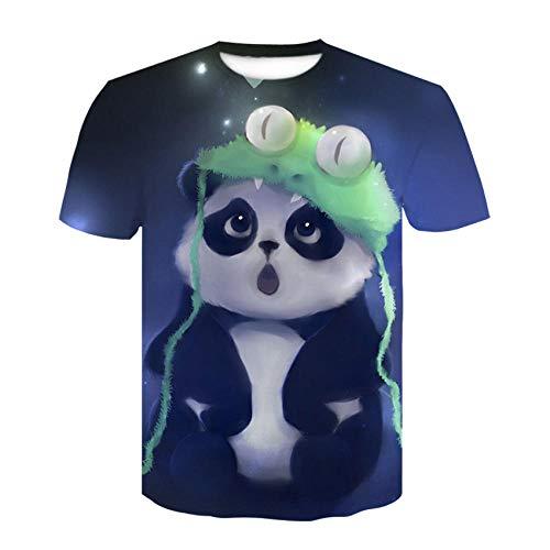 RKWEI T-shirt à manches courtes pour homme Motif panda 3D XXL multicolore