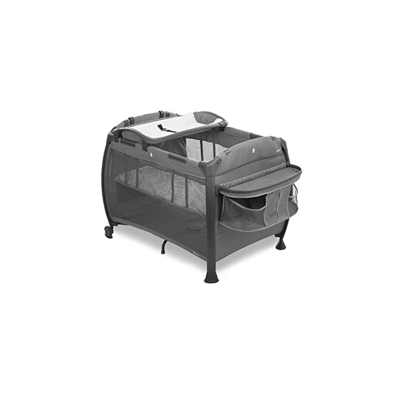 crib bedding and baby bedding joovy room-playard, nursery center, bassinet, changing-table, charcoal