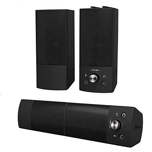 Lowest Prices! Computer Speakers,Small High Sound Quality Stereo Large Volume Speakers for Desktop/PC / PS4 / Smartphone,USB Powered Speakers for Computer