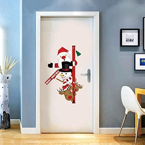 Pegatinas de ventana Creativos Santa Decoración de entrada Pegatinas de puerta de bienvenida Graffiti Pegatinas de pared Bandera Letrero para colgar en la puerta Feliz Navidad