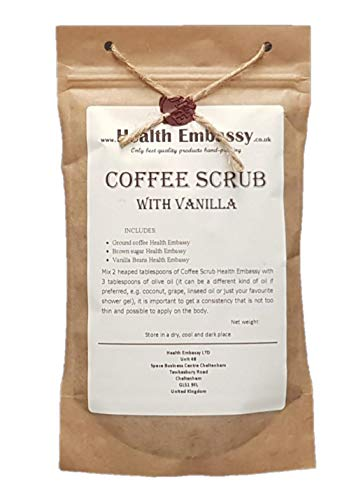 Health Embassy Kaffee Peeling mit Vanille/Coffee Scrub with Vanilla, 150g (peeling, body scrub)