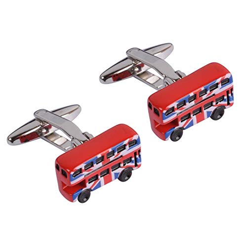 De Cufflink Store Union Jack London Bus Manchetknopen