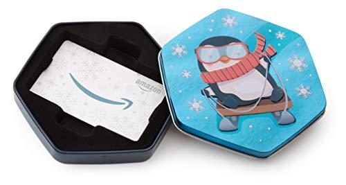 Amazon.com Gift Card in a Penguin Tin