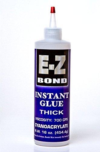 EZ Bond Cyanoacrylate Instant Glue Thick Adhesive 16 OZ - Strongest Bond on the Market