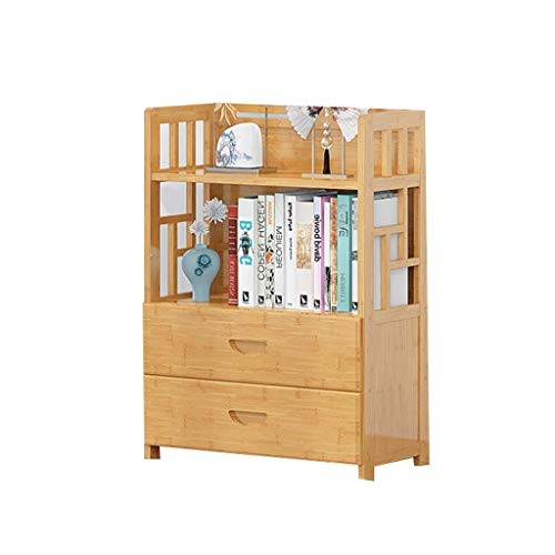 DHTOMC Bookcase shelf Bookshelf 3,4,5-Tier Bamboo Bookshelf Bathroom Storage ShelvesStand For Hallway Bookcases Bookshelf Display (Size : 80 * 113cm) Xping (Size : 80 * 83cm)