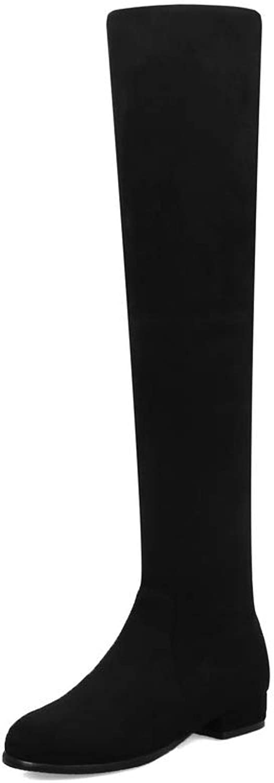 AdeeSu Womens Bucket-Style Solid Nubuck Urethane Boots SXC03544