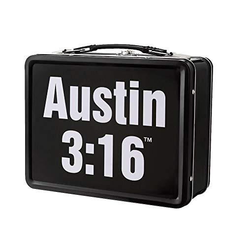 "WWE Stone Cold Steve Austin Austin 3:16"" Lunch Box Black"