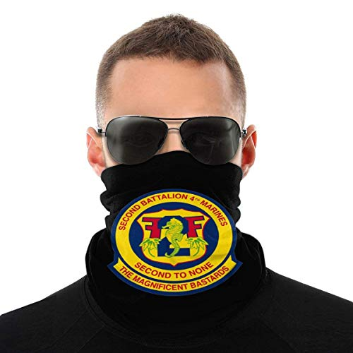 VVGETE Neck Gaiter Segundo Batallón Cuarto Marines Aire Libre Sombreros Cálidos Unisex Mujeres Sin Costura Festivales Deportes De Invierno Hombres Motocicleta Pasamontañas Multifuncional