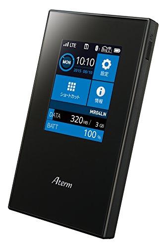 NECプラットフォームズ SIMロックフリー LTE モバイルルーター Aterm MR04LN ( デュアルSIM 対応 / microSIM ) PA-MR04LN