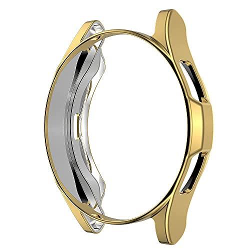 Custodia compatibile per Samsung Galaxy Watch 4 44mm 40mm Custodia protettiva per schermo in morbida TPU placcata all-around Custodia protettiva per Samsung Galaxy Watch 4 Classic 42mm 46mm