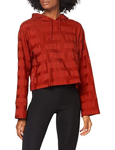 PUMA Train First Mile Mono Hoodie Camiseta, Mujer, Red Dahlia, XS