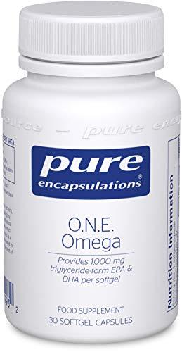 Pure Encapsulations - O.N.E. Omega 1000mg EPA/DHA - Triglyceride-Form EPA & DHA Fish Oil Omega-3 Supplement - 30 Softgel Capsules