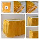 ORKIDEA Party - Falda de mesa con tul – Fabricado en Italia – Tamaño: 74 x 420 cm (amarillo)